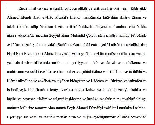 Yıldızî Emir Mehmet Çelebi Evkafı (Vakfı)